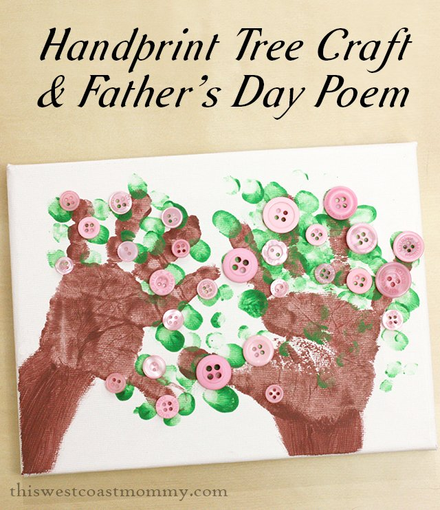 Dad will love this handprint tree craft!