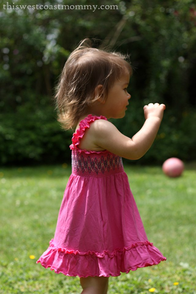 Silkberry Baby bamboo smocked sundress in Lollipop Pink