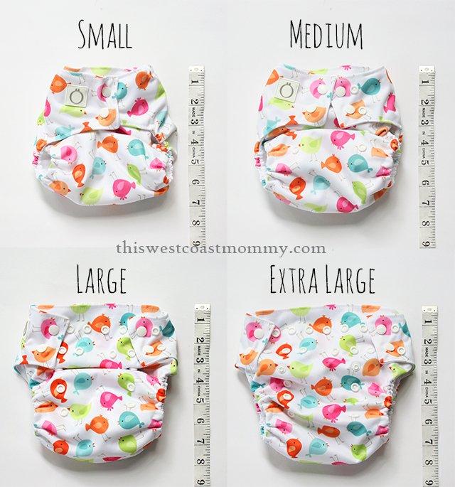 Omaïki 3.Ö Hybrid Diaper size comparison