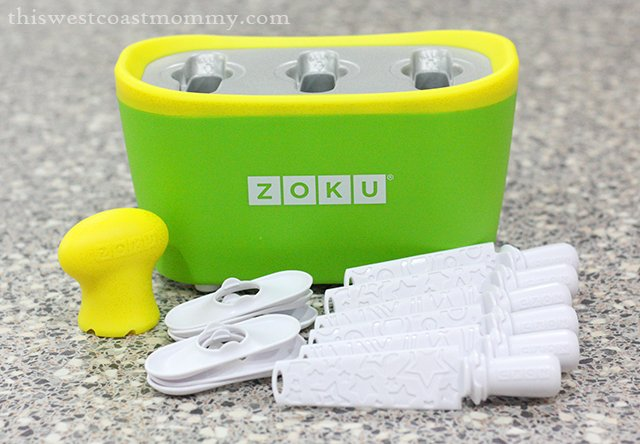 Zoku Quick Pop Maker comes with 6 sticks, 6 drip guards, and a Super Tool.