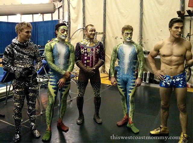 Cirque du Soleil TOTEM performers backstage