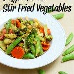 Ginger Garlic Stir Fried Vegetables #Recipe