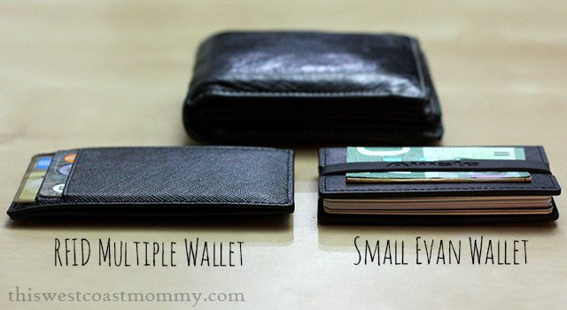 Ainste multiple wallet and small Evan wallet - thickness comparison