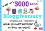 Maman Loup's 5000 Fan Bloggiversary Celebration #Giveaway {Closed}
