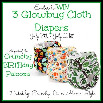 Enter to win 3 Glowbug Cloth Diapers! (US/CAN, 7/21)