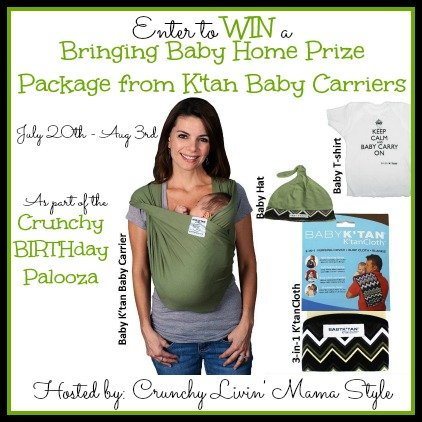 Enter to win a Baby K'Tan Baby Carrier and Bringing Home Baby Package (US, 8/3)