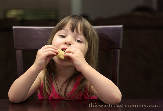 Teagan eating a cookie 3