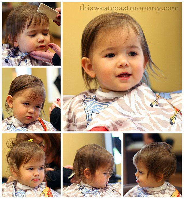 Kay's first haircut!