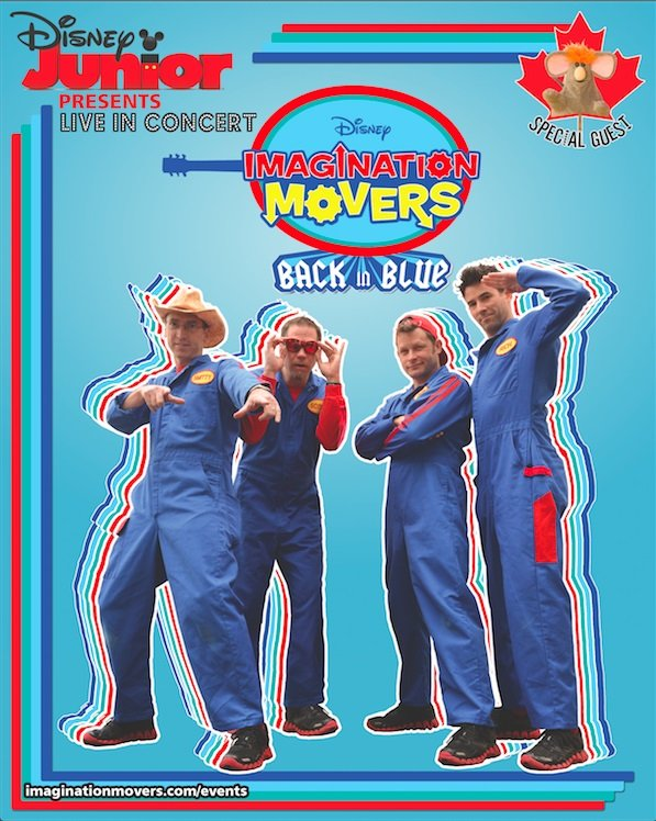 Enter to win a family pack of 4 tickets to see the Imagination Movers in concert (select Canadian cities)! Or enter for an IM swag bag (CAN/US)! Ends 8/9.