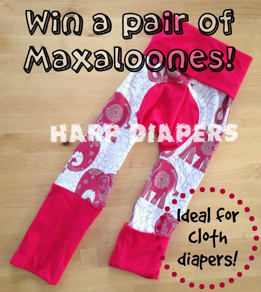 Win a pair of Maxaloones! The ideal pants for cloth diapers! (US/CAN, 7/23)