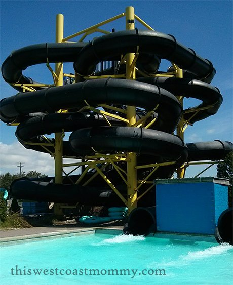 The Black Hole water slide at Splashdown Park