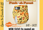 Celebrate the New Funky Fluff Print with a $100 GC #ClothDiapers #Giveaway! {Closed}