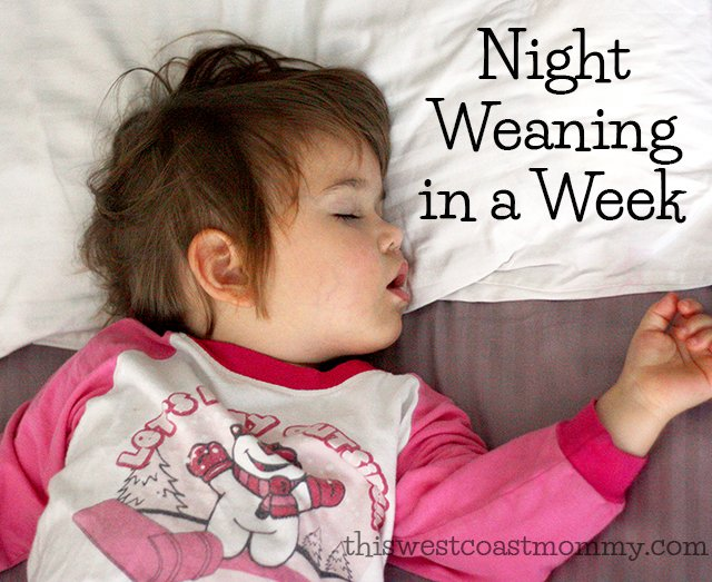Tips and strategies for night weaning in a week.