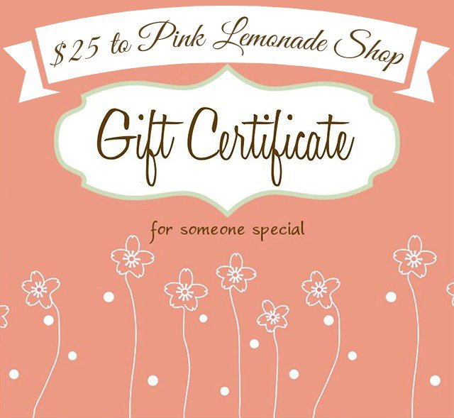 Win a $25 gift certificate to Pink Lemonade for cloth pads and liners (WW, 9/22)