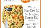Funky Fluff Stay Dry 2.0 #ClothDiaper and Hanging Diaper Pail #Giveaway {Closed}