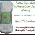 2014-10-17 Buttons Diapers Cover and Hemp Cotton Inserts Giveaway