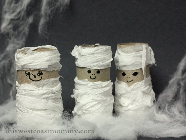 3 Toilet Paper Tube Mummies