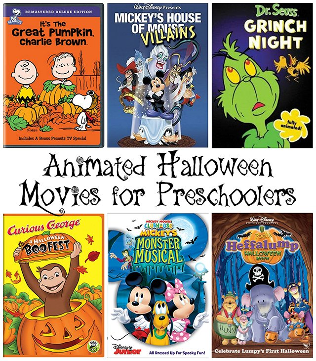 Animated Halloween Movies for Preschoolers 3-4 year olds