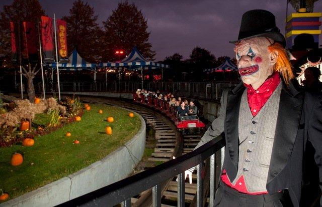 Fright Nights roller coaster
