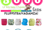 Win 6 Premium Cloth Diapers in Lil' Monkey Cheeks 5000 Fans Giveaway! {Closed}