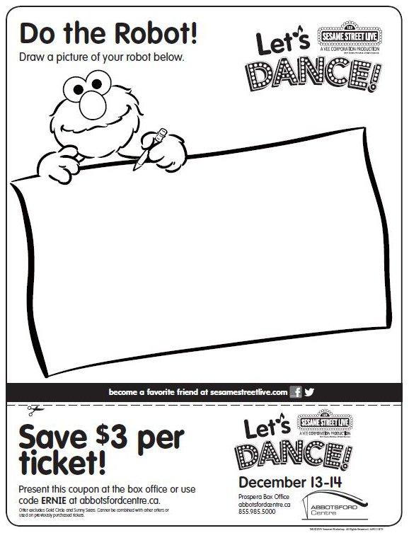 Sesame Street Live Let's Dance activity pages