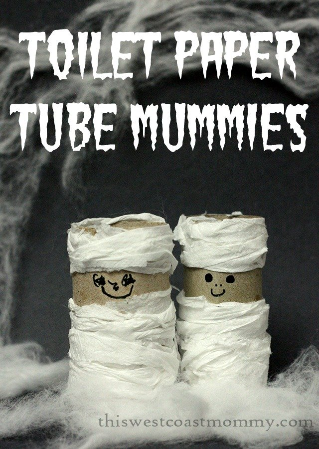 Toilet paper tube mummies