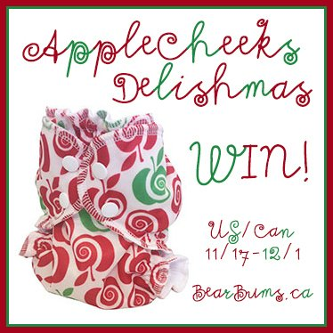 Win an AppleCheeks Delishmas cloth diaper for FluffMas! Open US & Can, ends 12/1.