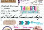It's a Holiday Handmade Giveaway! {Closed}