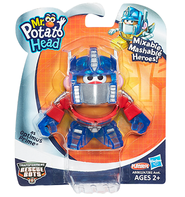 Playskool Mr. Potato Head Transformers Mixable, Mashable Heroes as Optimus Prime Robot