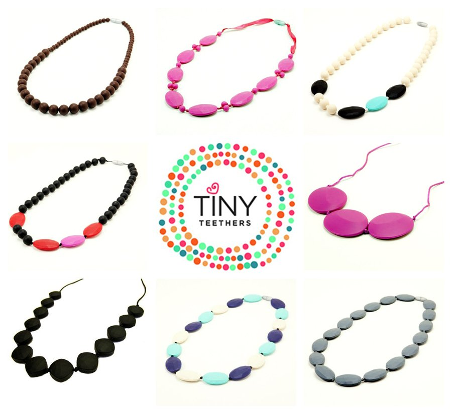 Tiny Teethers silicone necklaces
