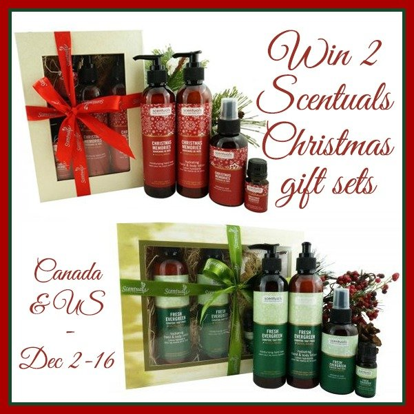 Win 2 Scentuals Christmas gift sets ARV $100 (US/CAN, 12/16)
