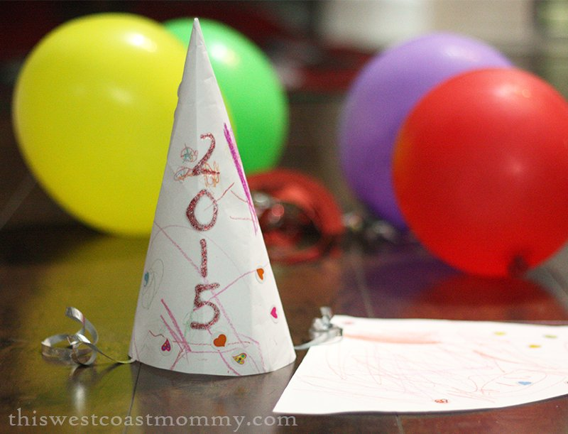 20 Ideas for Kid-Friendly New Year's Eve - Make your own party hats