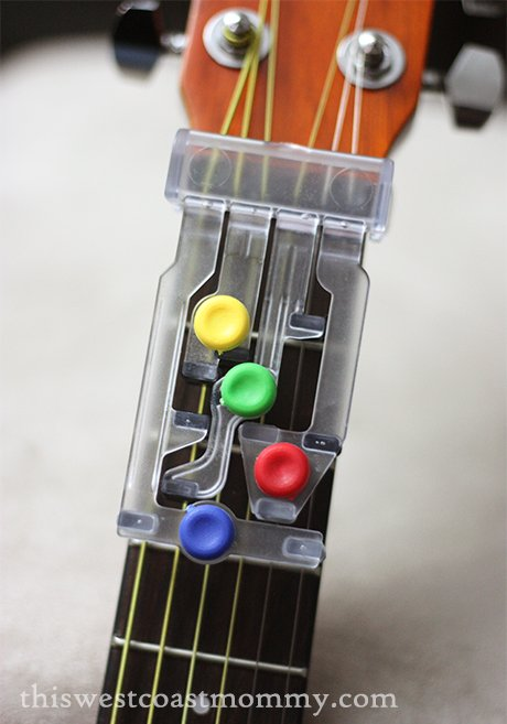 kids can learn to play with the chordbuddy junior guitar