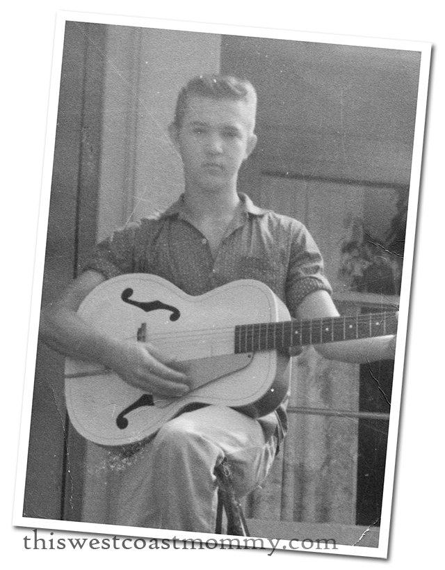 Danny playing his guitar