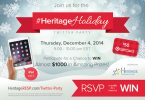 Get Into the Holiday Spirit with the #HeritageHoliday Twitter Party!