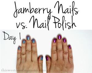 Jamberry vs nail polish