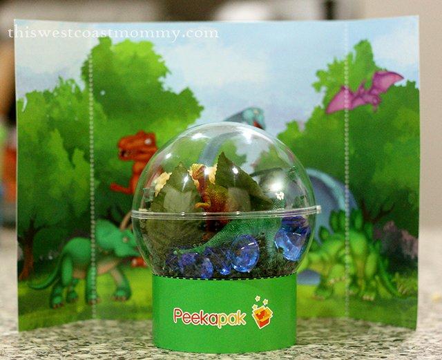 Peekapak craft - dino terrarium