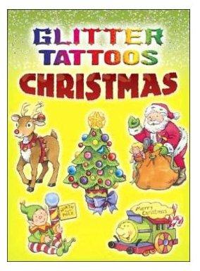 glitter christmas tattoos