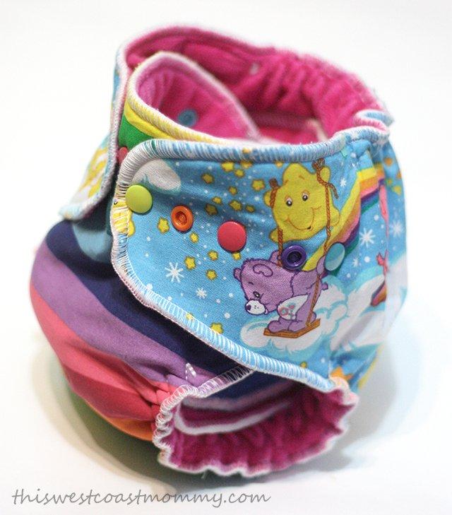 Sar n'dippa Dee hybrid fitted cloth diaper