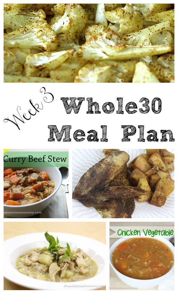 Whole30 meal plan Week 3