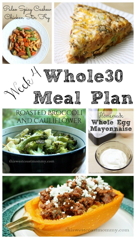 Week 4 Whole30 meal plan