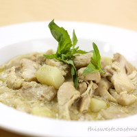slow cooker green curry chicken