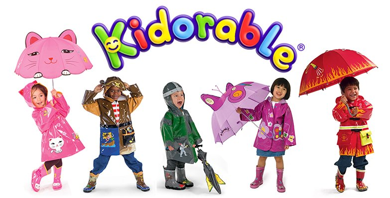 Kidorable rain gear comes in 15 styles!