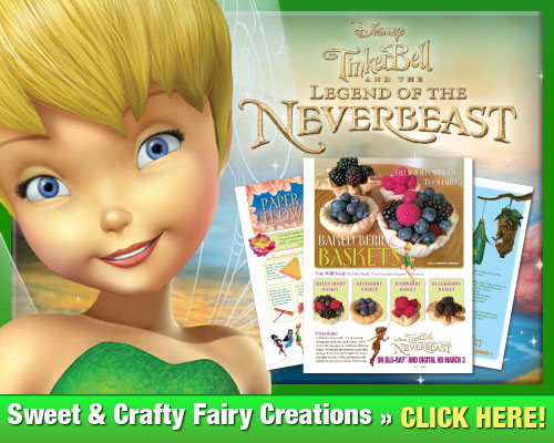Get your FREE fairy craft tutorials inspired by Tinker Bell and the Legend of the NeverBeast