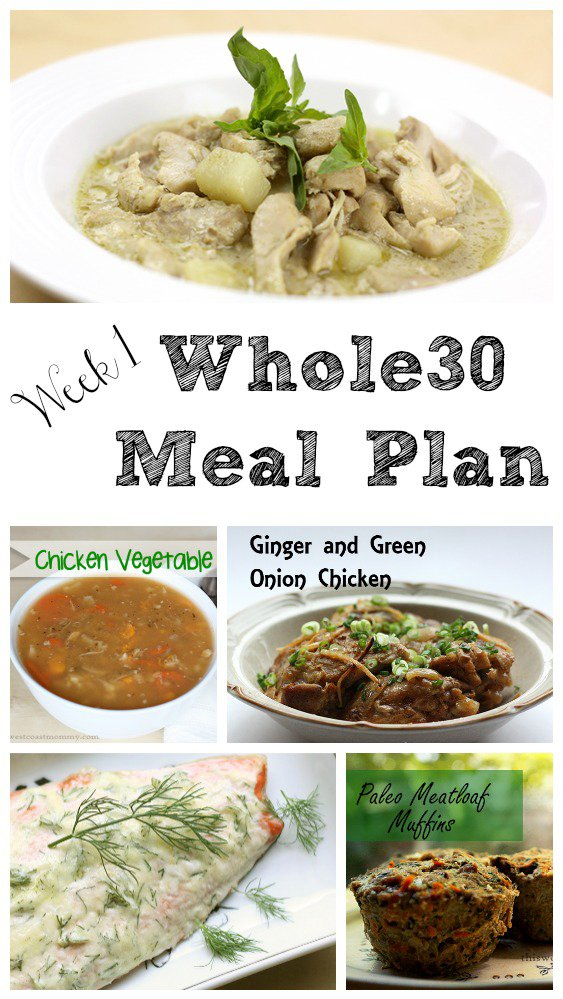 Week 1 Whole30 meal plan