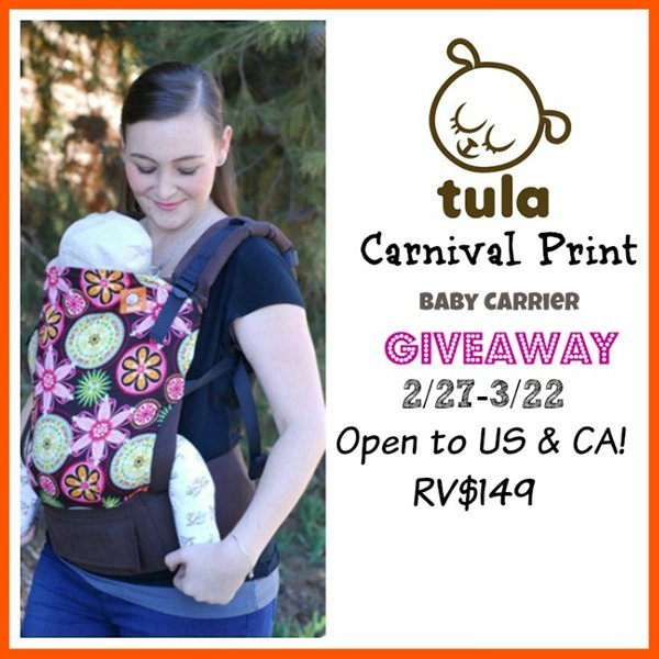 Win a Tula Baby Carrier! (US/CAN, 3/22)