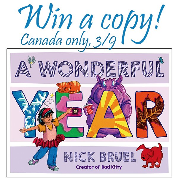 "Win a hardcover copy of ""A Wonderful Year"" (CAN, 3/9)"