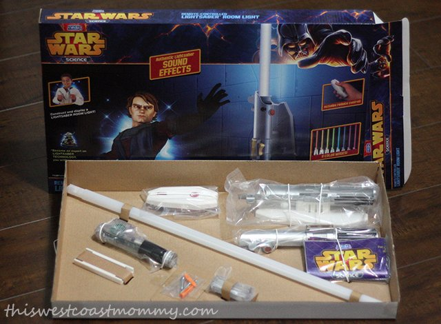 Star Wars Science Lightsaber Room Light unboxing