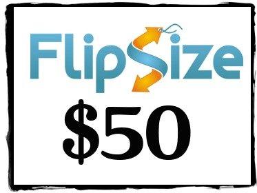 FlipSize $50 gc