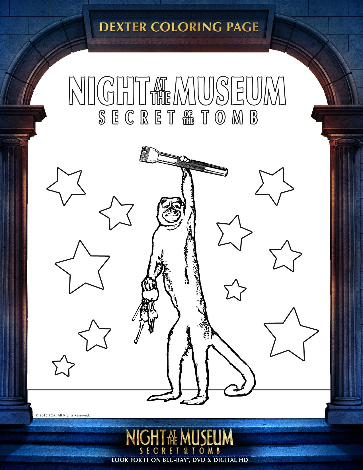 Night At The Museum Secret Of The Tomb Blu Ray Plus Free At The Museum Coloring Pages